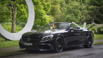 обоя brabus 850 6-0 biturbo cabrio based on mercedes-benz amg s63 cabrio 2017, автомобили, brabus, cabrio, s63, amg, mercedes-benz, 850, 6-0, biturbo, based, 2017
