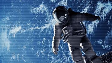 обоя космонавт, космос, астронавты, космонавты, земля, полет, скафандр