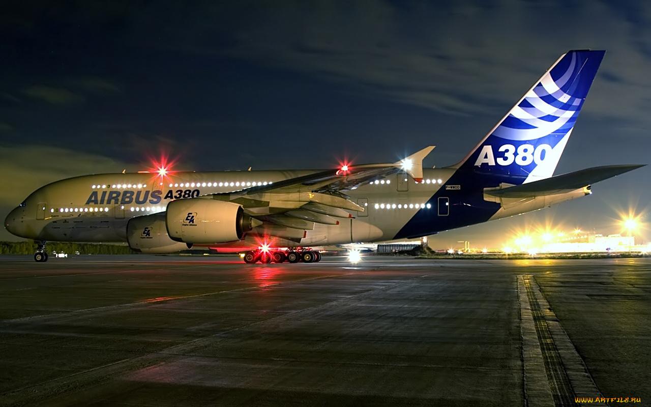 Взлет A380 Airbus загрузить