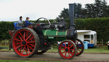 Картинка 1900+marshall+8hp+single+traction+engine техника тракторы колесный трактор