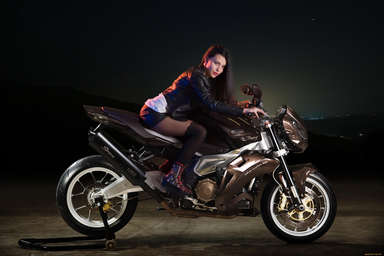 Картинки с девушками и мотоциклами, пчелки