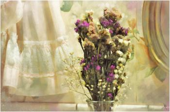 Картинка рисованные цветы букет