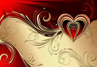 обоя праздничные, день святого валентина,  сердечки,  любовь, сердечко, фон