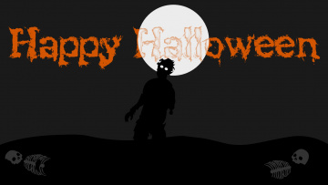обоя праздничные, хэллоуин, луна