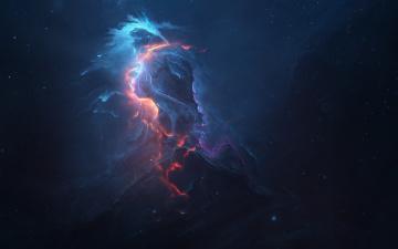 обоя космос, галактики, туманности, туманность, вселенная, галактика, звезды