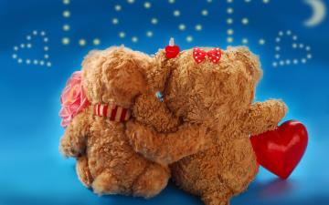 обоя праздничные, день святого валентина,  сердечки,  любовь, парочка, сердце, объятие