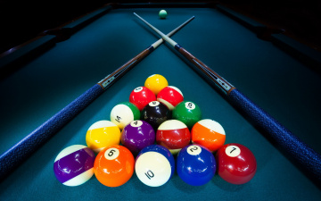 обоя спорт, бильярд, кий, стол, шары