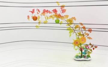 обоя векторная графика, цветы , flowers, ветки, цветы