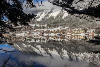 Картинка города -+пейзажи озеро горы