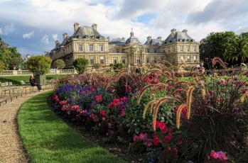 обоя luxembourg gardens,  paris, города, париж , франция, дворец, парк