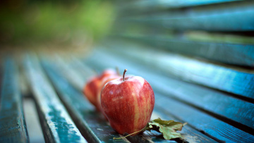 обоя еда, Яблоки, боке, яблоки, осень