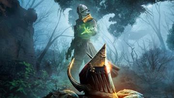 обоя фэнтези, маги,  волшебники, колдовство, кольчуга, шлем, магия, маг, рыцарь