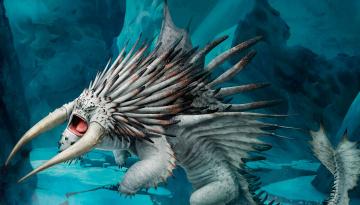 обоя фэнтези, драконы, дракон, монстр, рога, колючий, чудище, зверь