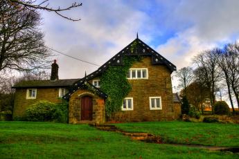 Картинка города -+здания +дома lancashire england англия дом ландшафт трава
