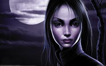 Картинка tang+yuehui фэнтези девушки портрет девушка лицо луна tang yuehui