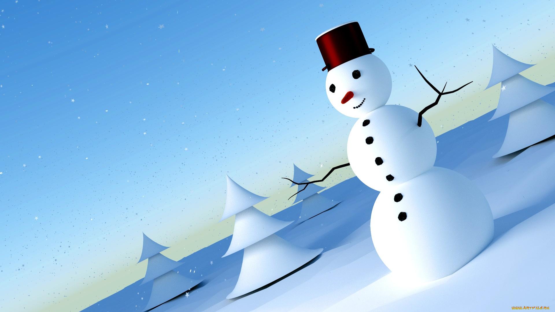 Сентября, новогодние картинки со снеговиками на рабочий стол