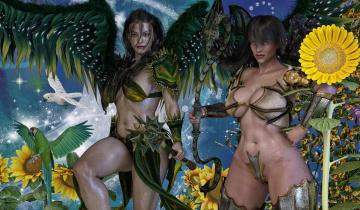 Картинка 3д+графика ангел+ angel фон взгляд девушки