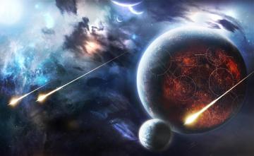 Картинка космос арт вселенная планеты звёзды созвездия