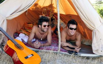 обоя мужчины, - unsort, палатка, гитара, очки