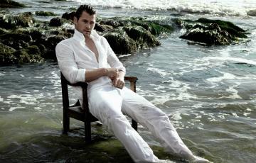 обоя мужчины, chris hemsworth, вода, мокрая, одежда