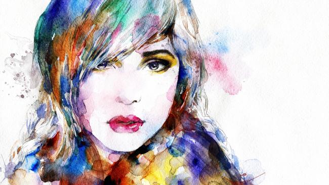 Лицо человека рисунок в красках