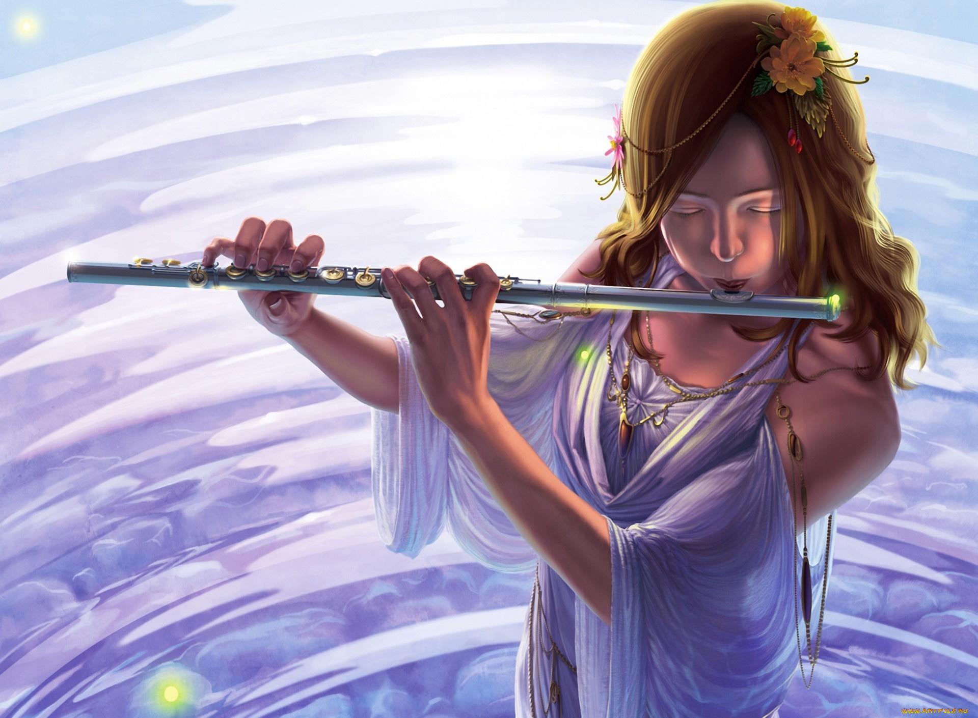Открытки с флейтой, днем рождения мамы