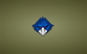 Картинка рисованные минимализм белый клюв красные глаза синяя голова птица