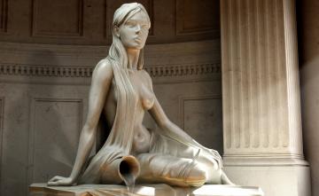 Картинка разное рельефы +статуи +музейные+экспонаты изваяние статуя девушка кувшин вода