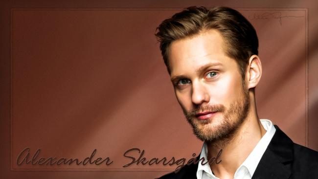 Обои картинки фото alexander skarsg&, 229, rd, мужчины, актер