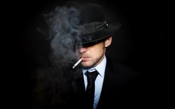 Картинка мужчины unsort щетина сорочка галстук шляпа