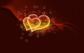 обоя векторная графика, сердечки , hearts, сердечки