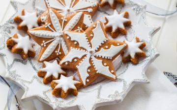 обоя праздничные, угощения, печенье