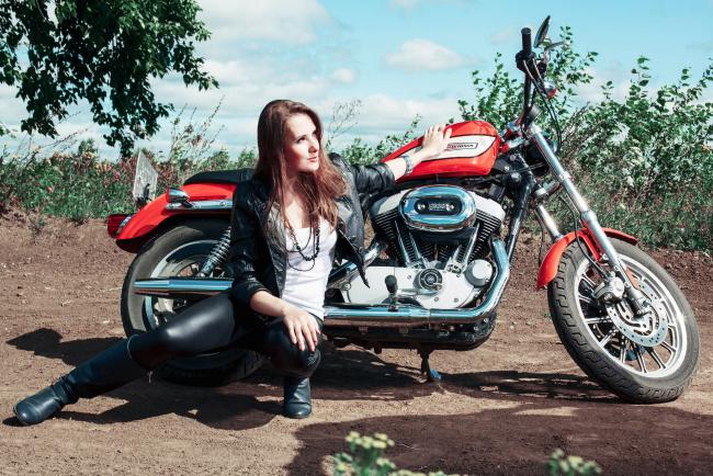 Обои картинки фото moto girl 46, мотоциклы, мото с девушкой, girls, moto