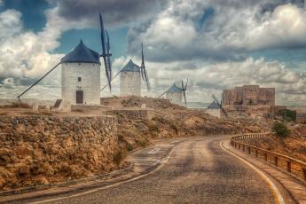 Картинка разное мельницы spain castilla la mancha toledo consuegra