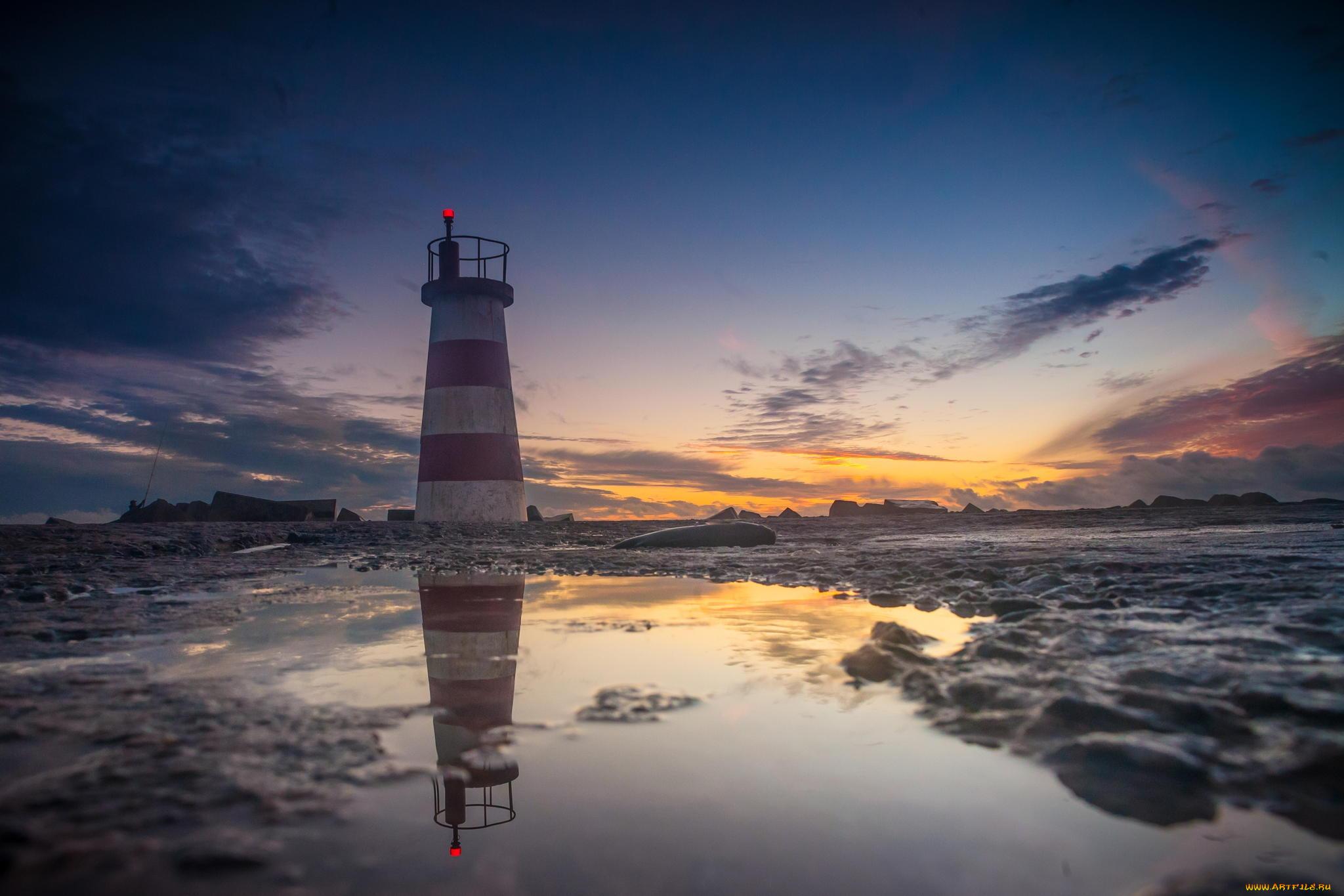 природа маяк море скалы скачать