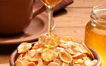 Картинка еда мёд варенье повидло джем хлопья сухие завтраки