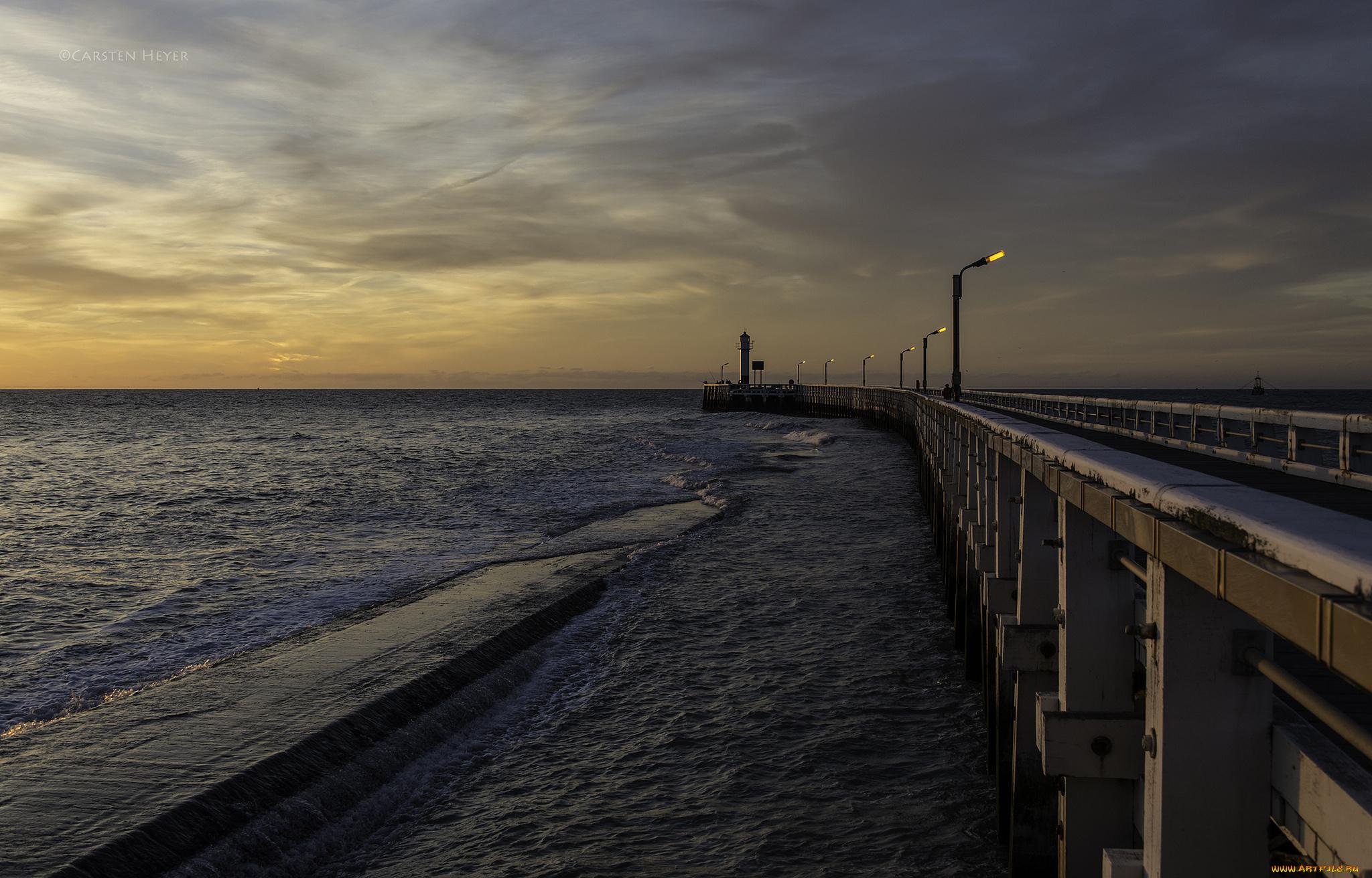 причал фонари берег море pier lights shore sea  № 2555115  скачать
