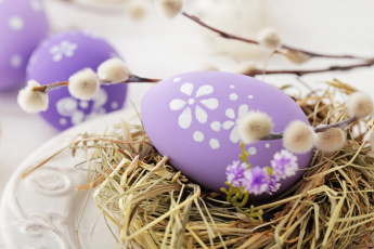 обоя праздничные, пасха, яйцо, верба, гнездо