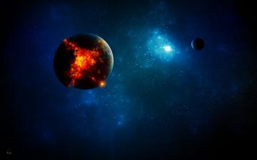 Картинка космос арт планеты взрыв