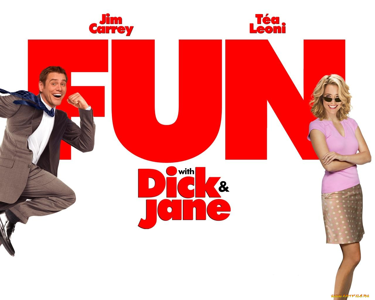 fun with dick and jane Fun with dick and jane is 1977 satirical comedy film directed by ted kotcheff, starring george segal and jane fonda as the title characters dick and jane harper are married yuppies, an aerospace engineer and a dedicated homemaker.