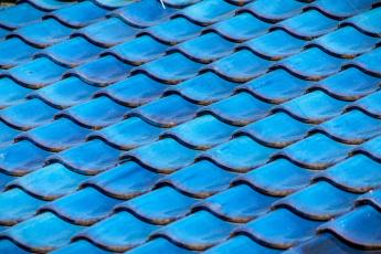 Картинка разное текстуры голубой черепица