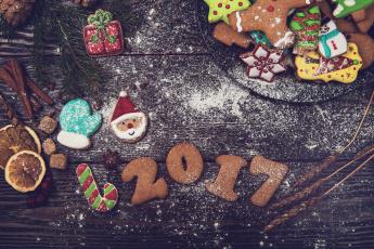 обоя праздничные, угощения, печенья, угощенья, праздник, новый, год