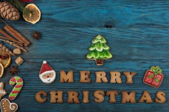 обоя праздничные, угощения, праздник, печенья, угощенья, новый, год
