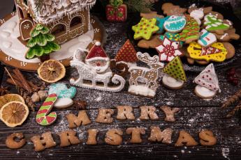 обоя праздничные, угощения, угощенье, игрушки, печенье, праздник, новый, год