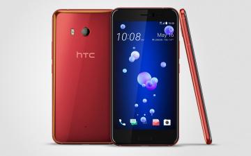 обоя бренды, iphone, смартфоны, htc, u11, на, сером, фоне, 2017