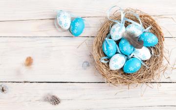 обоя праздничные, пасха, eggs, decoration, весна, happy, spring, яйца, крашеные, корзинка, easter, гнездо, wood