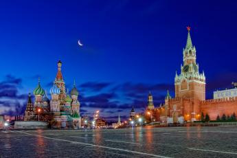 обоя москва, города, москва , россия, красная, площадь, кремль