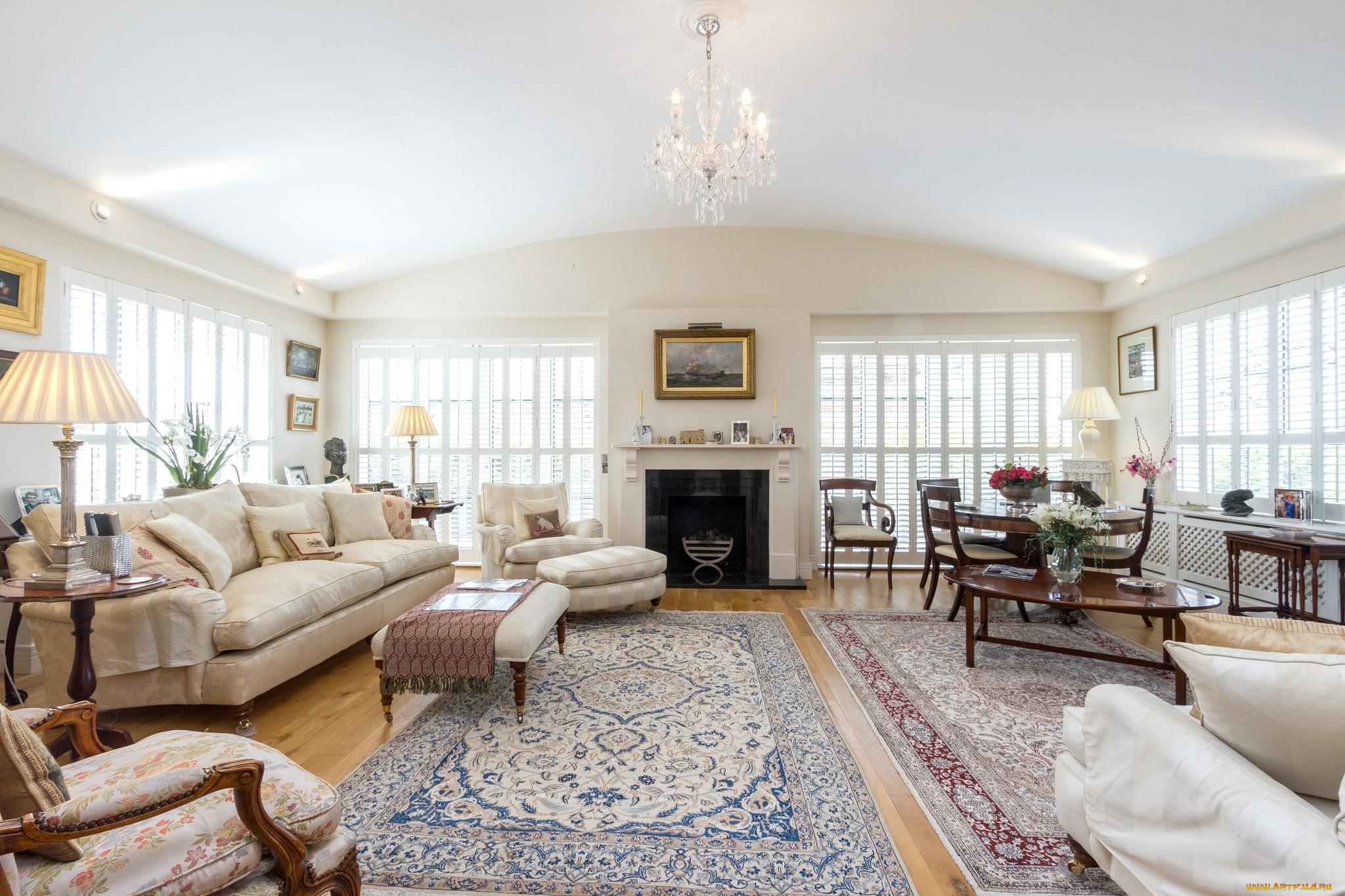 интерьер светлый камин диван ковер interior light fireplace sofa carpet скачать