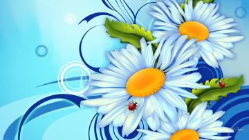 Картинка векторная+графика цветы