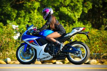 обоя мотоциклы, мото с девушкой, байк, девица